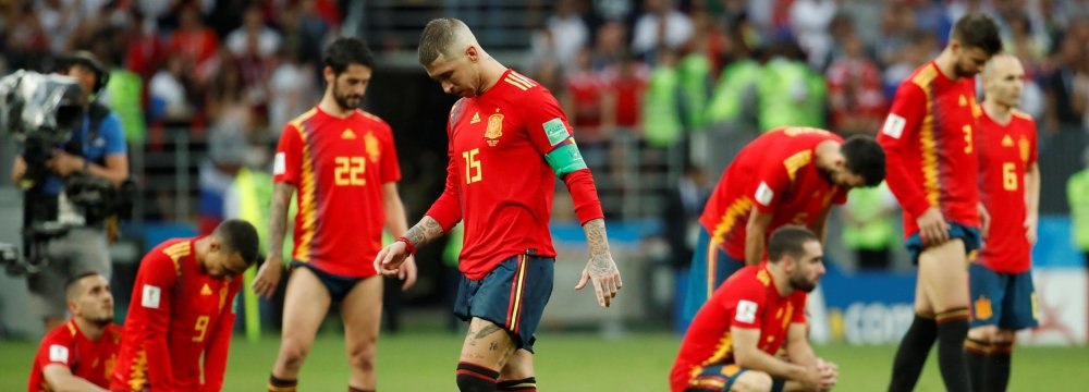 Spain team plunged into sorrow after the loss.
