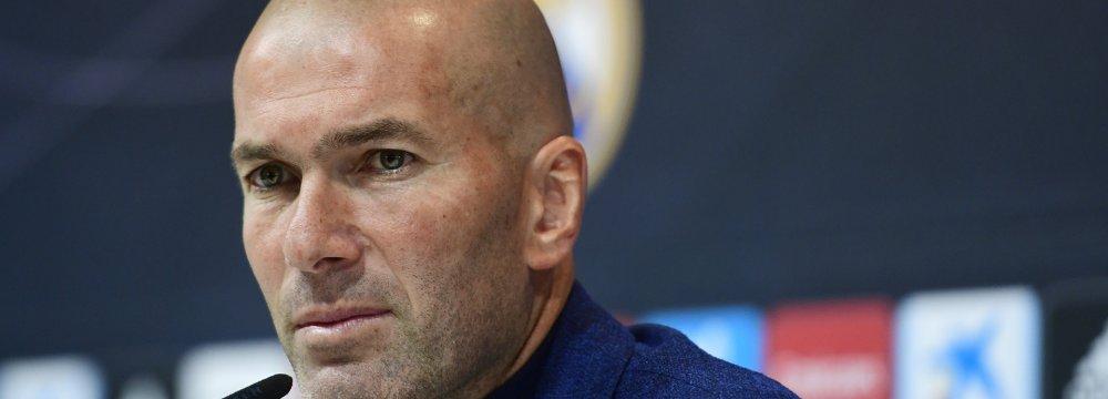 Zinedine Zidane at the press conference