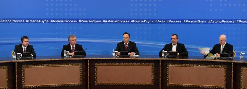 Russia, Turkey, Iran Work on New Astana Talks