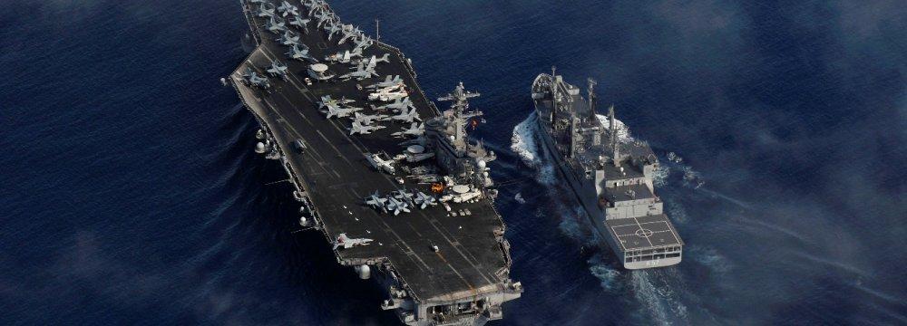 Nimitz-class aircraft supercarrier USS Carl Vinson