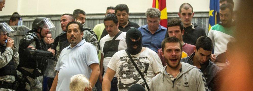 Nationalists Storm Macedonian Parliament