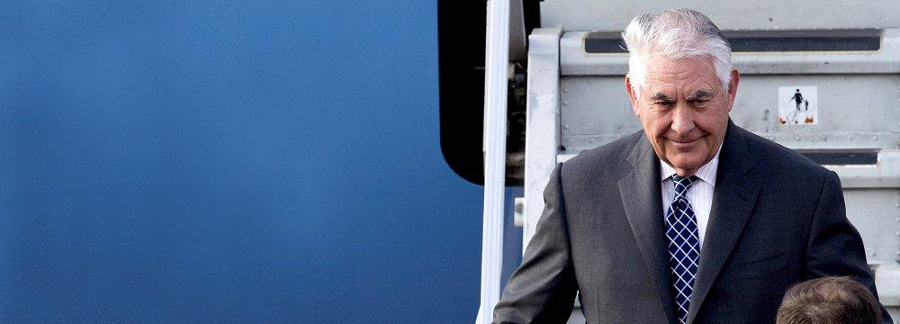 US Secretary of State Rex Tillerson