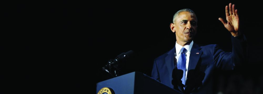 Barack Obama made his final speech as US president in Chicago on Jan. 10.