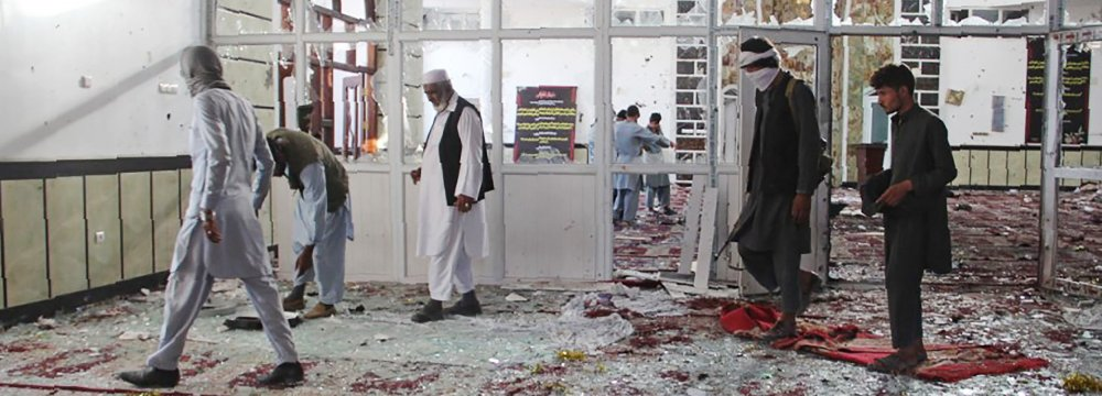 Dozens Killed in Suicide Bombing at Afghanistan Mosque