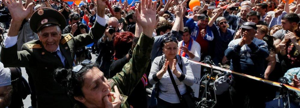 Armenian Opposition Leader Elected Premier