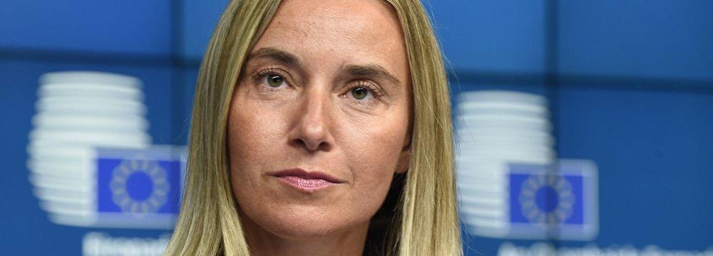 EU's Mogherini Prepares for Successor Next Year