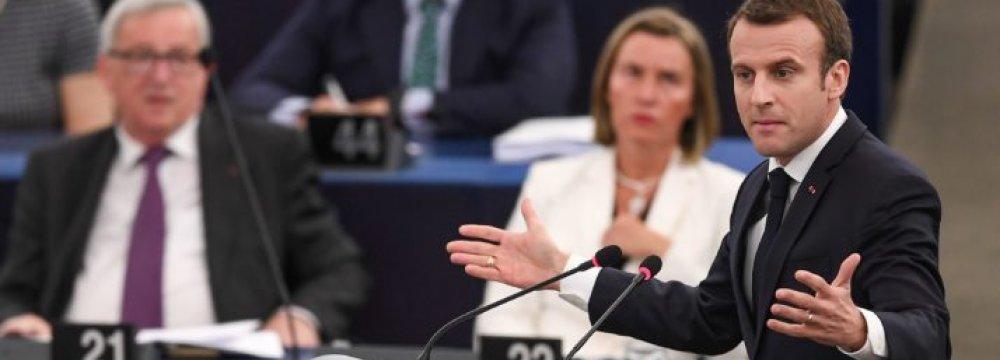 France's Macron: EU in Civil War Over Democracy