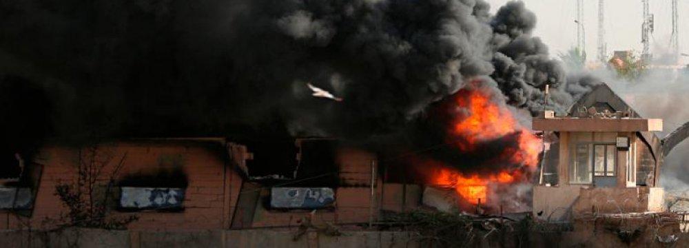 Fire at Baghdad Ballot Paper Depot