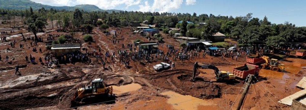 Dozens Killed After Dam Burst in Kenya