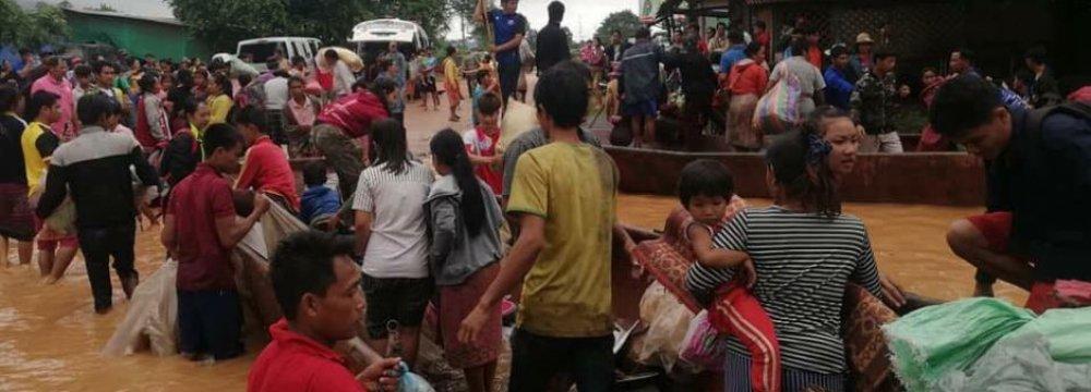 Laos Dam Collapse Leaves Several Dead