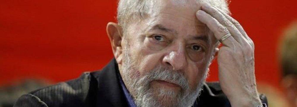 Lula da Silva Barred From  Running for Brazil's Presidency