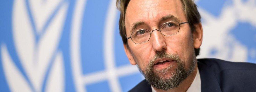 UN Official Denounces Assaults on Palestinians' Fundamental Rights
