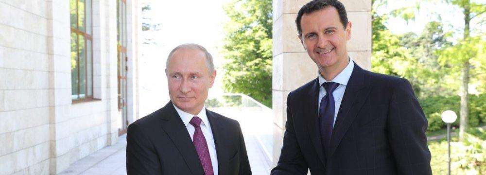 """Putin, Assad Hold """"Extensive"""" Talks in Sochi"""