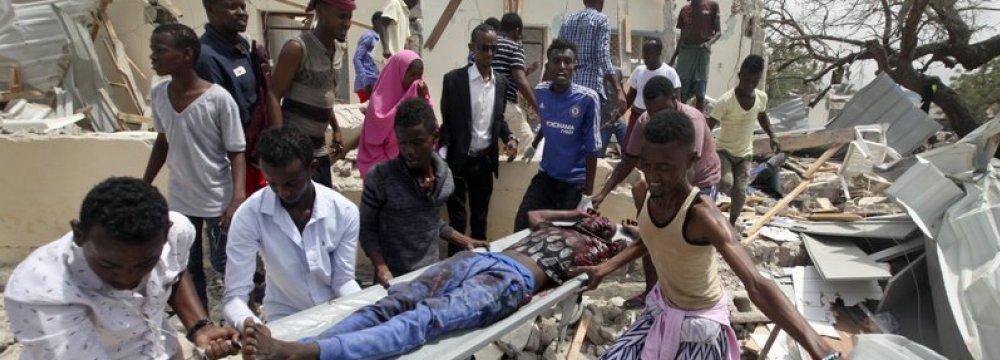 Suicide Blast Rocks Mogadishu