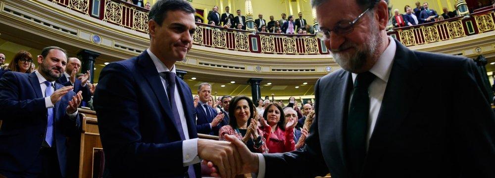 Socialist Sanchez Becomes Spain's Prime Minister