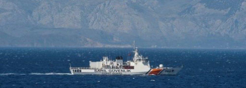 Turkish Cargo Ship, Greek Warship Collide