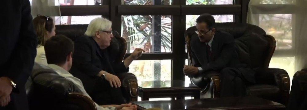 UN Envoy in Yemen for Crisis Talks Over Hodaida