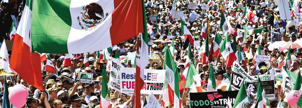Massive Mexican March Against Trump Tirade