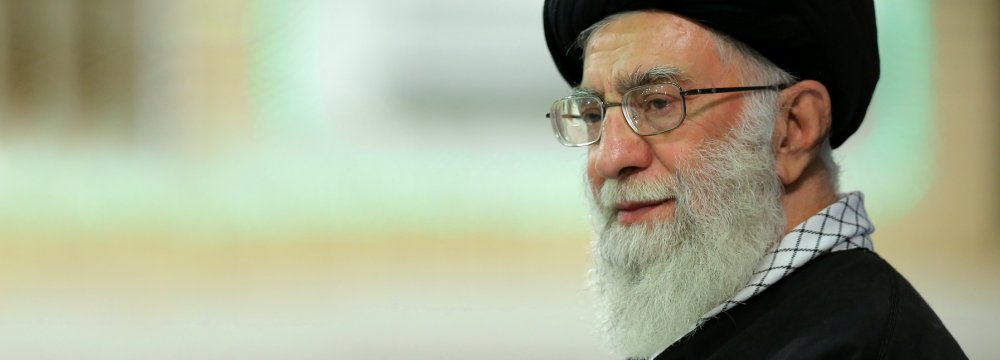 Ayatollah Seyyed Ali Khamenei met with the families of Iranian commandos killed in Syria in Tehran earlier this week.