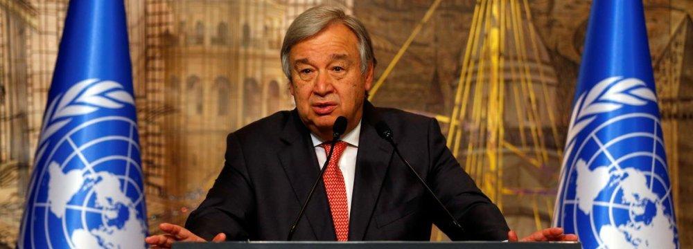 UN Secretary-GeneralAntonio Guterres