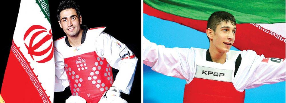 Sajjad Mardani (L) and Farzan Ashourzadeh