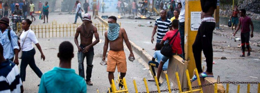 Violent Protests Erupt  in Haiti as Fuel Prices Rise