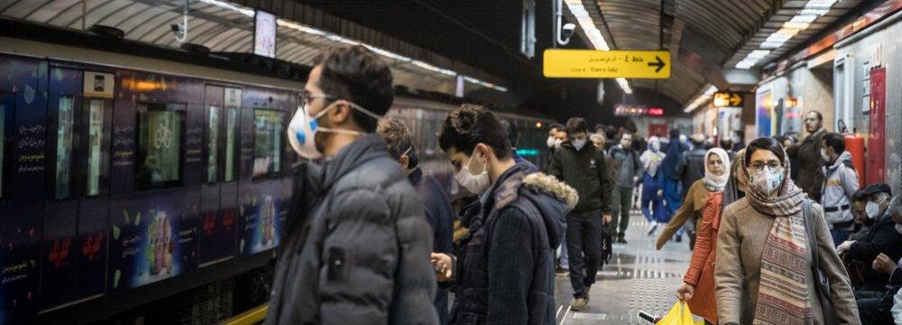 Public Transport Commuters Surge as Businesses Reopen in Tehran
