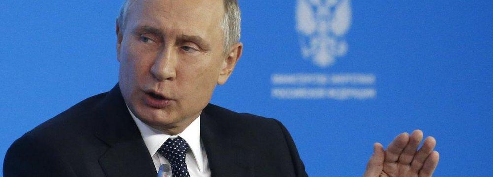 Putin Says Happy With $70 Crude  - Photo: thenational.ae
