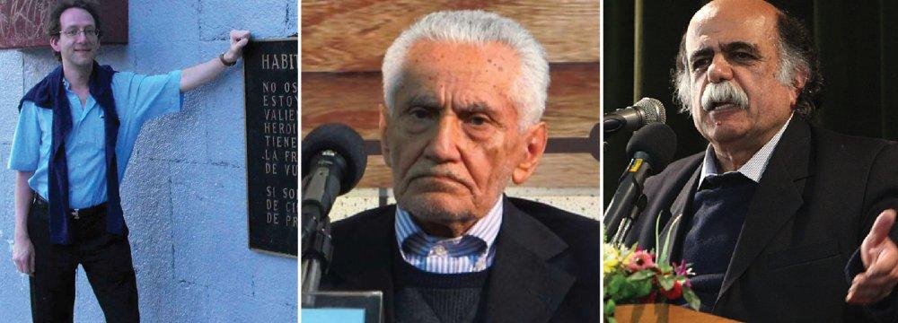 Jean Marc Hovasse  (L), Ahmad Samiee Gilani (C) and Mir Jalaleddin Kazzazi