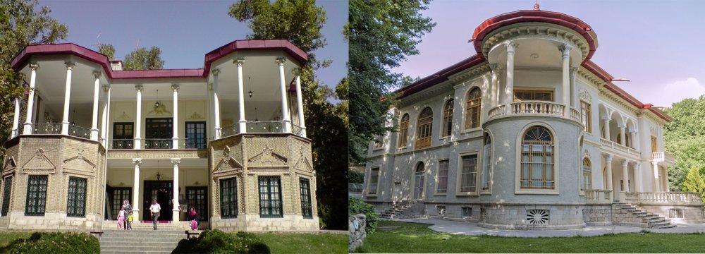 Niavaran (L) and Sa'dabad palace museums