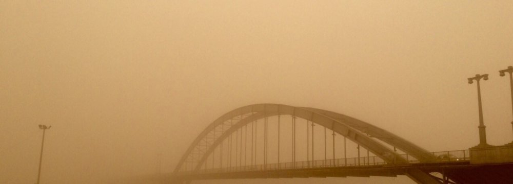 Dust storms had reduced the field of vision in Ahvaz to a mere 50 meters. (File Photo)