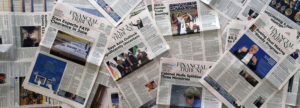 Financial Tribune Tops Iranian English-Language Newspapers