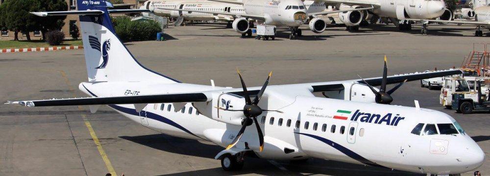 Iran Air's brand-new ATR turboprop - Tehran Mehrabad International Airport - Photo: Sadra Mosala