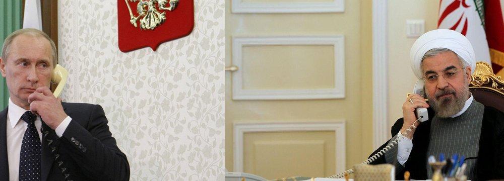 Rouhani, Putin Stress  Further Anti-Terror Efforts
