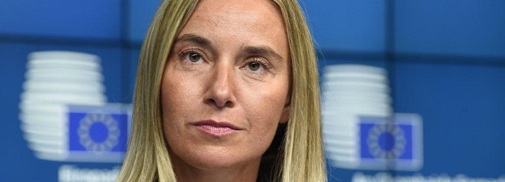 Mogherini: EU Trade With Tehran Up 94%