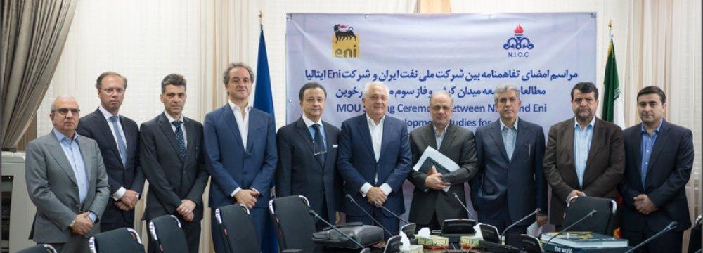 Eni, NIOC Ink Deal on Studying Iran Oil, Gas Fields (Update)