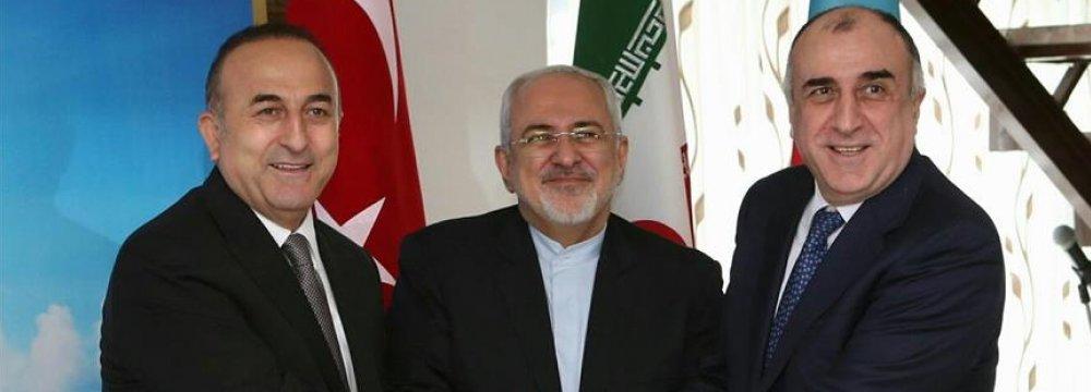 Iran, Turkish, Azeri FMs to Meet in Baku