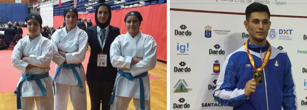 Iranian karatekas have so far bagged one gold, one silver and four bronze medals.