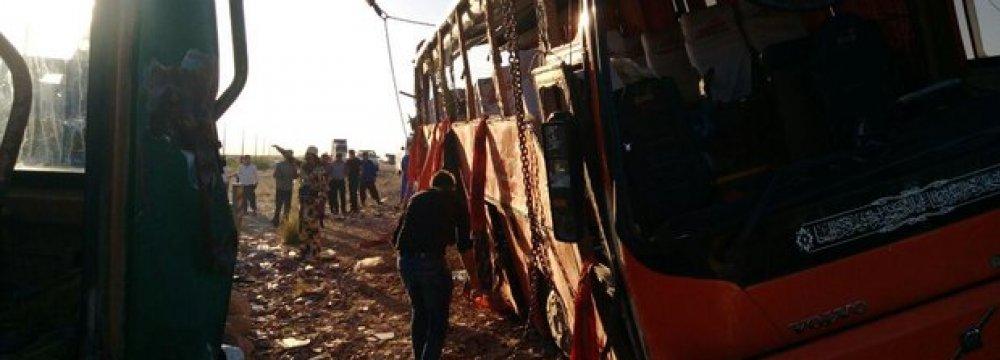 Bus Crash Kills 10 Students, Injures 35