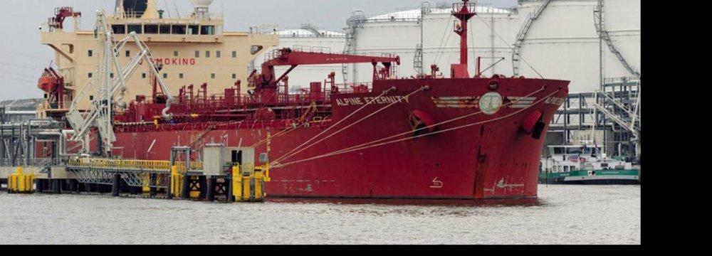 Iran Wants Oil Tanker Seized for Damaging Platform