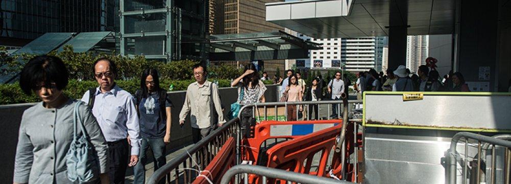 Hong Kong Protests Subside