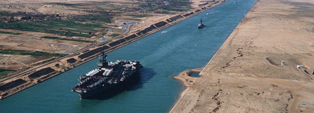 Suez Canal Revenues Rise 12%