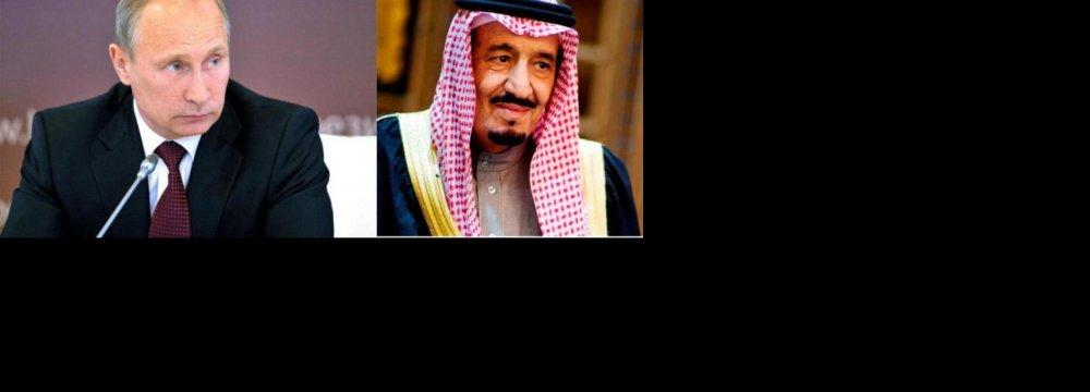 Russian, Saudi Leaders Discuss Syria Crisis