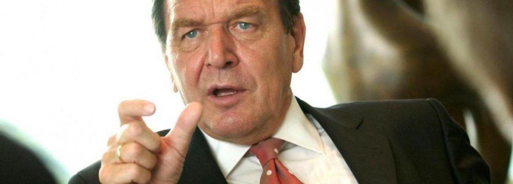 Ex-German Chancellor to Visit