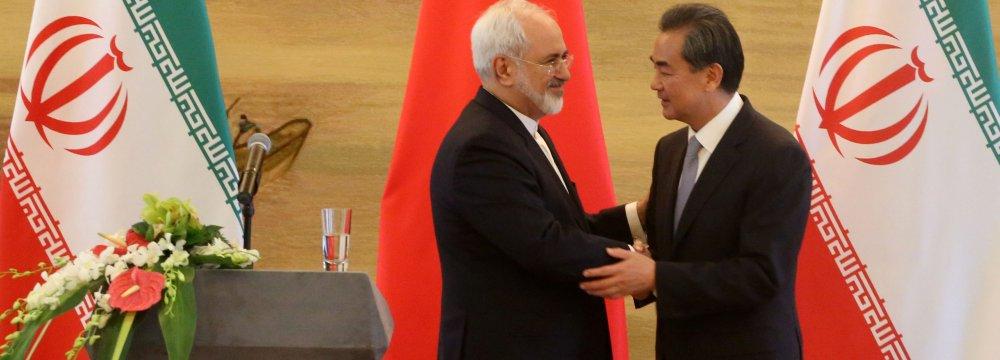 Trust Underpins Tehran-Beijing Ties