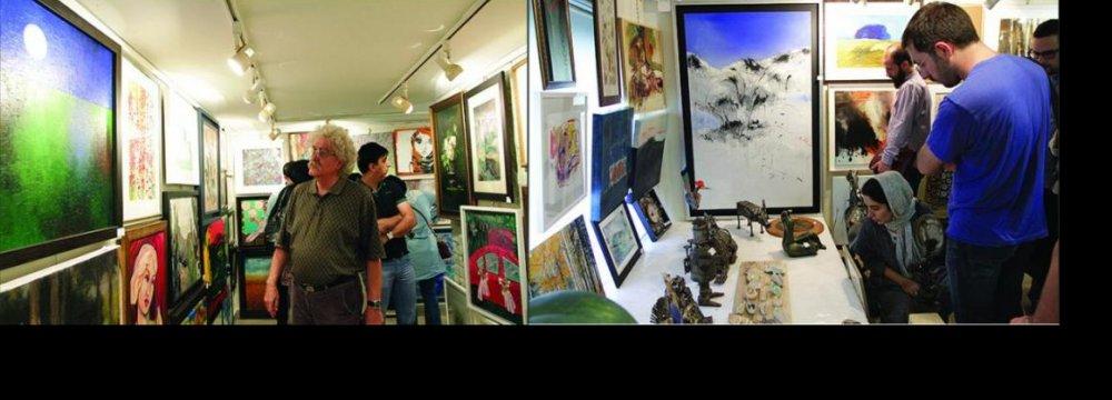 Art Fans Swarm Golestan Gallery Exhibition