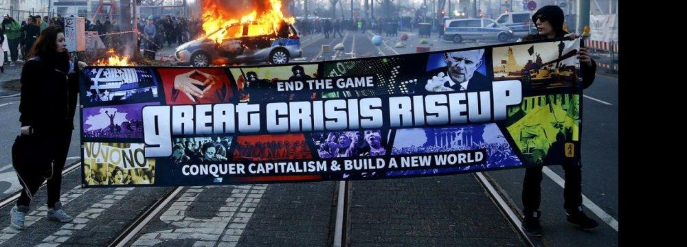 Anti-Austerity Protest Turns Violent