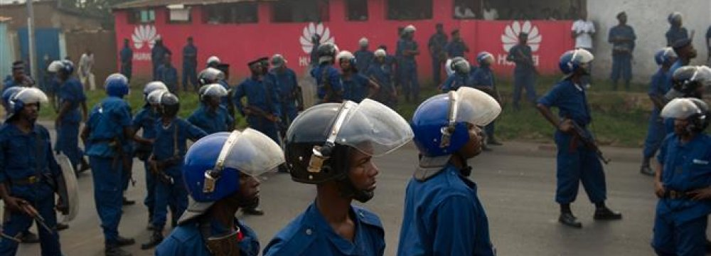 Police Open Fire on Burundi Protesters