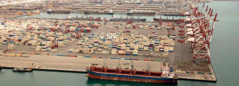 Shahid Bahonar Port Operations Increase
