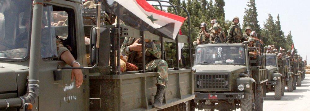 Syrian Army Kills 25 Terrorists
